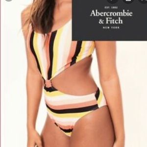 Abercrombie and Fitch striped swimsuit